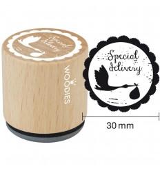 Holzstempel rund - Special Delivery