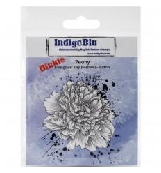 Peony Cling Stempel - Indigo Blu