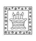 Kuchen mit Kerzen Stempel