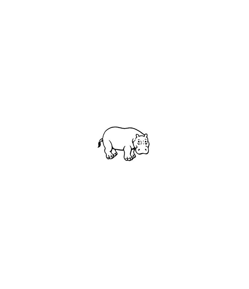 Mini Stempel Nilpferd
