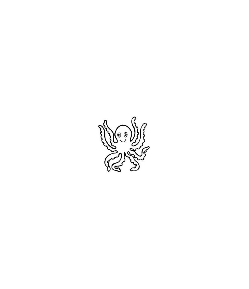 Mini Stempel Tintenfisch