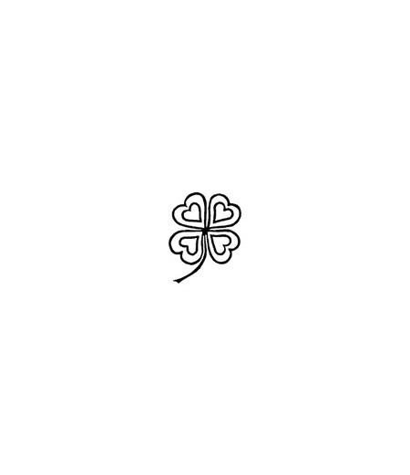 Mini Stempel Klee