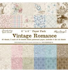 "Maja Design Scrapbooking Papier Vintage Romance 6""x6"""