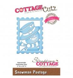 Stanzschablone Schneemann Briefmarke - Cottage Cutz