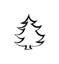 Skizzierter Tannenbaum Holzstempel