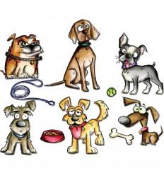 Crazy Dogs Stanzschablonen - Tim Holtz