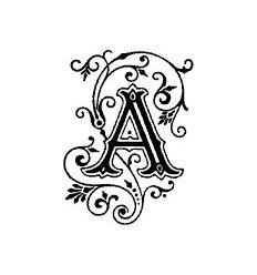 Buchstaben Stempel A