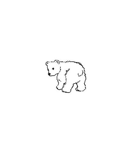 Mini Stempel Eisbär