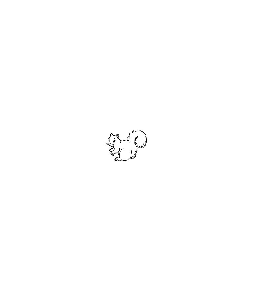 Mini Stempel Eichhorn