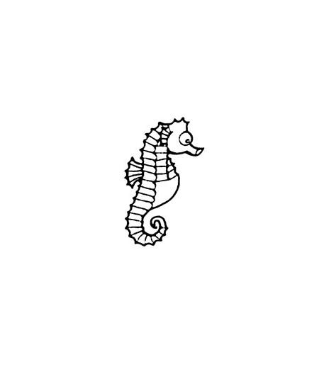 Mini Stempel Seepferd