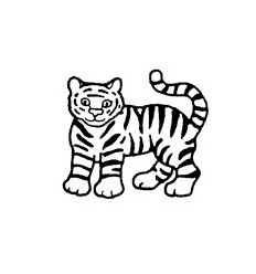Mini Stempel Tiger