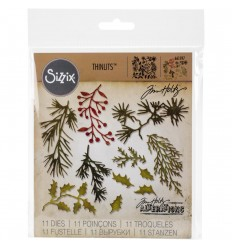 Stanzschablonen Mini Holiday Greens - Tim Holtz