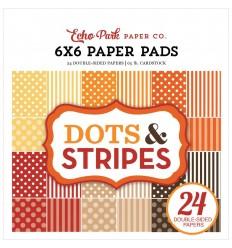 """Scrapbooking Papier Dots & Stripes 6""""x6"""" - Echo Park"""