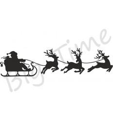 Santas Schlitten Stempel auf EZ Mount