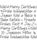 Frohe Weihnachten 4 Sprachen Stempel