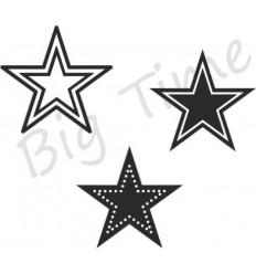 3 Sternen Stempel Set auf EZ Mount