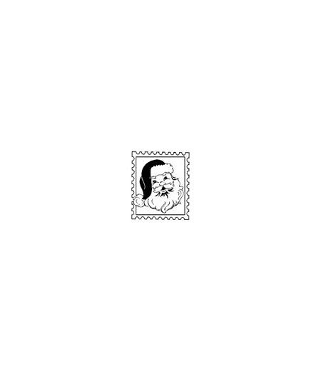 Santa Briefmarken Stempel