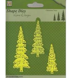 Stanzschablone Christmas Trees - Nellie Snellen