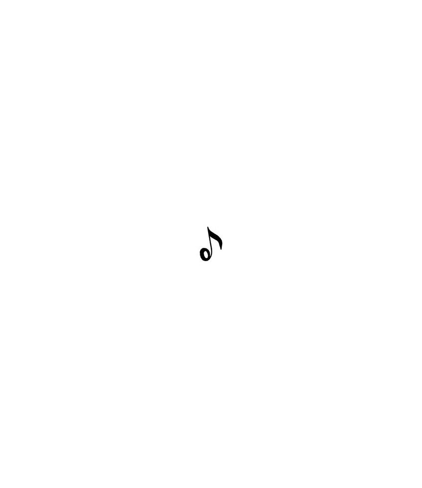 Musiknote Stempel   7178ABT