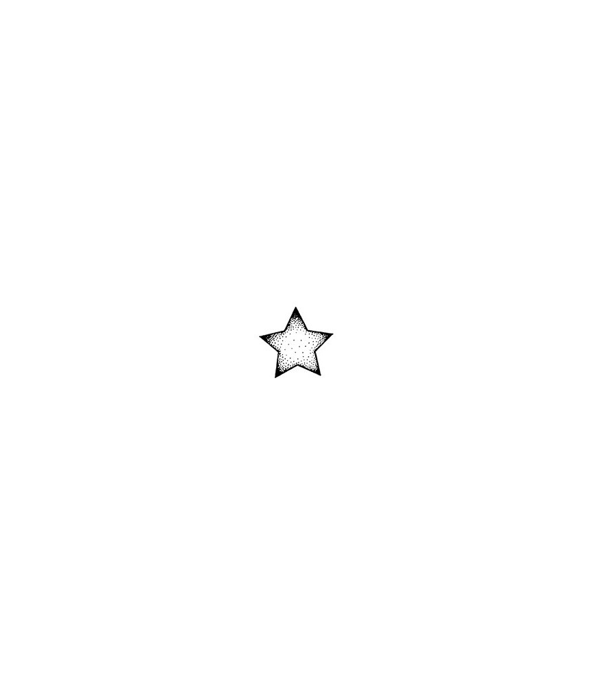 Stern mit Tupfen Stempel