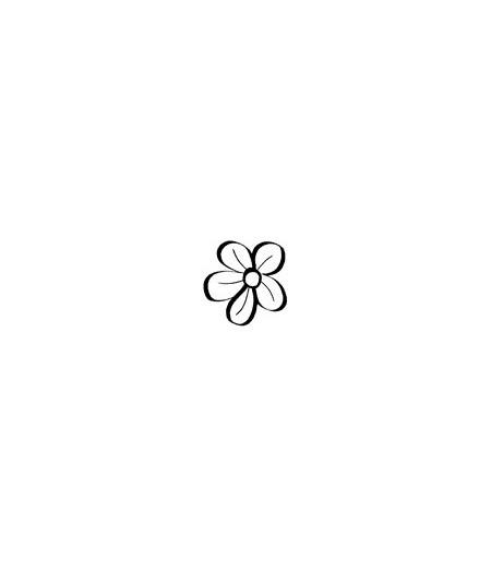 Skizzierter Blumenkopf Stempel