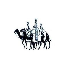 3 Könige auf Kamelen Holzstempel