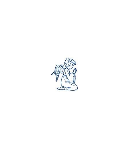 Betender Engel knieend Holzstempel