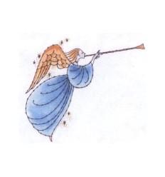 Engel mit Trompette Holzstempel