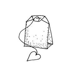 Teebeutel mit Herz Stempel