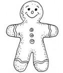 Lebkuchenmann Stempel Gingerbread