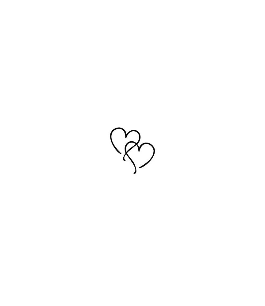 2 Herzen Stempel
