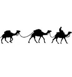 3 Kamele Holzstempel