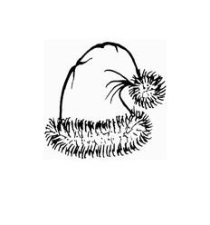 Nikolaus Mütze Holzstempel