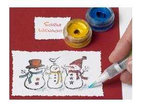 Farben, Stifte, Pinsel & Schablonen
