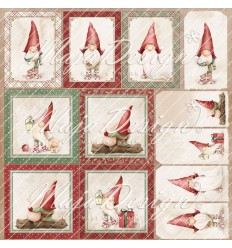 Scrapbooking Papier Christmas Season Merry Night - Maja Design