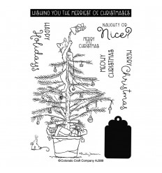 Clear Stamps Christmas Tree Cat - Colorado Craft Company