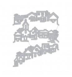 Stanzschablone Tri-fold Edge Village - Hero Arts