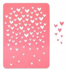 Stanzschablone Schwebende Herzen - Sizzix