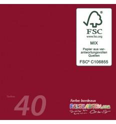 Scrapbooking Papier in bordeaux, 12 Stk. - FK