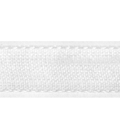Organzaband weiss, 7mm breit - Rayher