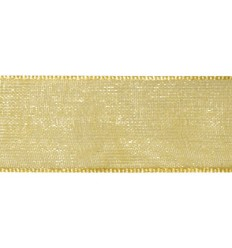 Organzaband gold, 7mm breit - Rayher