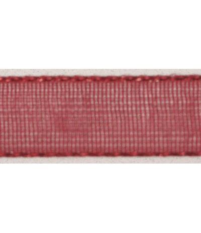 Organzaband weinrot, 7mm breit - Rayher