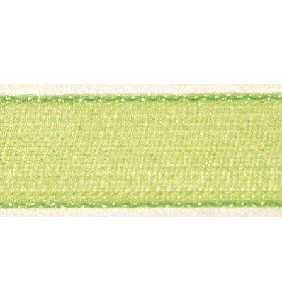 Organzaband grün, 7mm breit - Rayher
