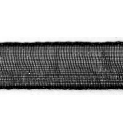 Organzaband schwarz, 7mm breit - Rayher