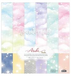 "Scrapbooking Papier Sparkly Sky, 12"" - Asuka Studio"