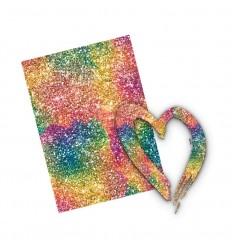 Vinylfolie Rainbow World, Rainbowglitter, A4 - Plottermarie