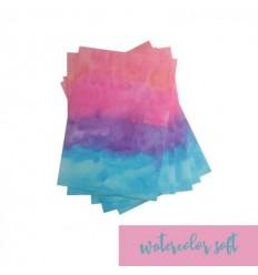 Vinylfolie Watercolor soft, A4 - Plottermarie