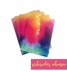 Vinylfolie Watercolor intensiv, A4 - Plottermarie