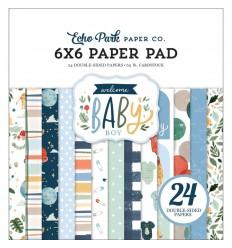 """Scrapbooking Papier Welcome Baby Boy, 6"""" - Echo Park"""