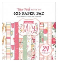 """Scrapbooking Papier Welcome Baby Girl, 6"""" - Echo Park"""